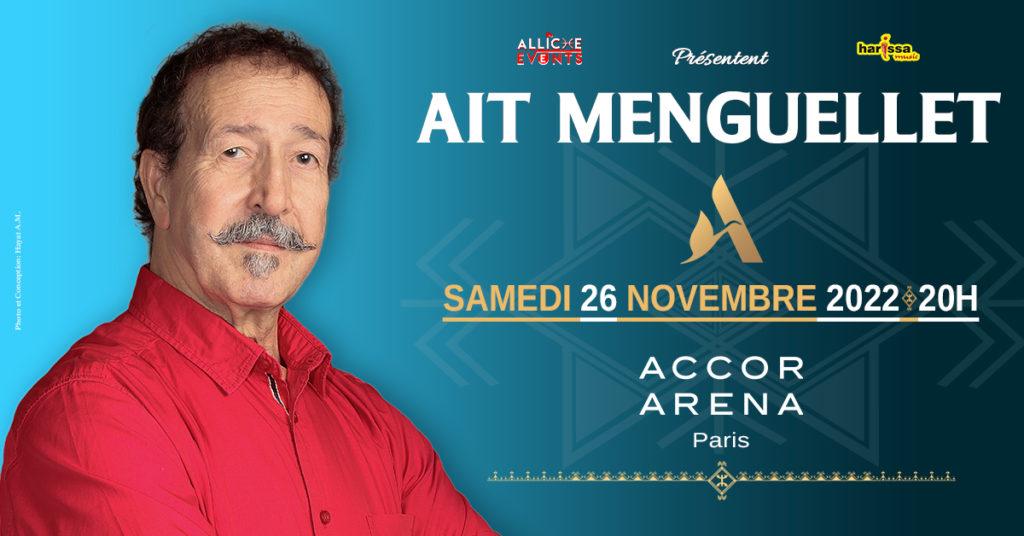 Ait Menguellet à l'Accor Arena de Paris le 26 novembre 2022