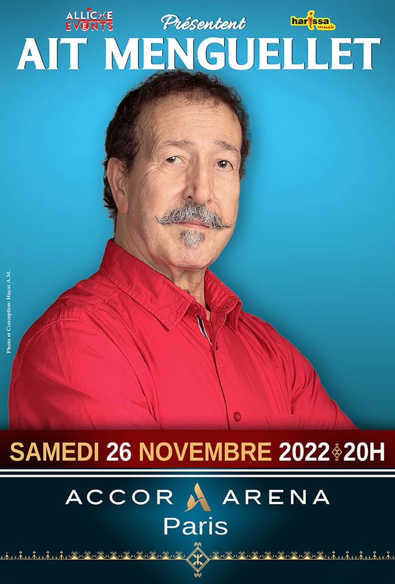affiche ait menguellet Accor Arena Bercy 2022
